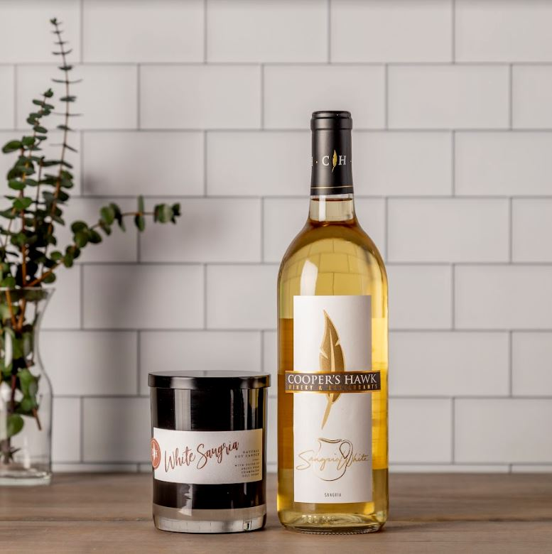 White Sangria Wine and Candle Set