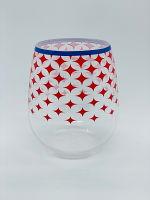 Stemless Acrylic Wine Glass: Stars