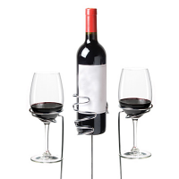 Picnic Stix™: Wine Glass & Bottle Holders