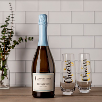 Prosecco and Cheers Flute Gift Set
