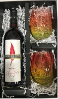 Red Sangria with Two Stemless Glasses Set