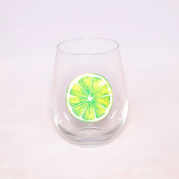 Stemless Lime Slice Wine Glass