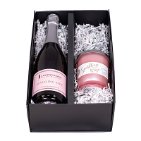 Sparkling Rose Wine and Candle Set