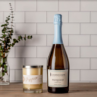 Prosecco Wine and Candle Set