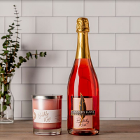 Bubbly Rosé Wine and Candle Set